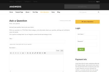 Ask Questions And Answers WordPress Theme