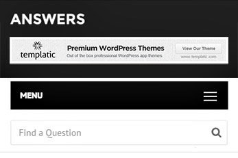 Answers WordPress Template