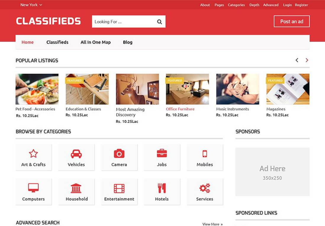 Classifieds Theme WordPress