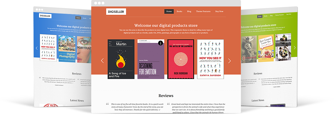 WP theme for online stores - Mobile App View