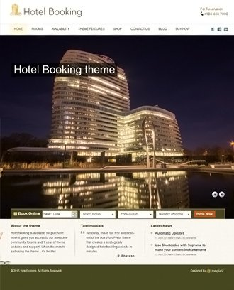 Hotel Booking Theme