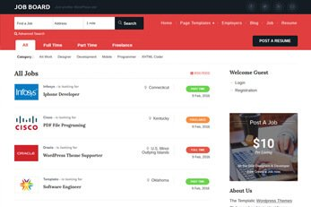 WordPress Job Agency Theme