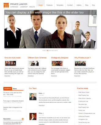 Private Lawyer theme