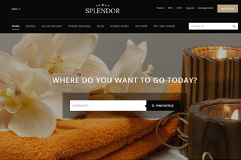 Hotels Directory Theme Splendor City Banners
