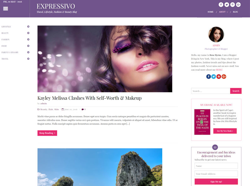 Free Expressivo WordPress Theme