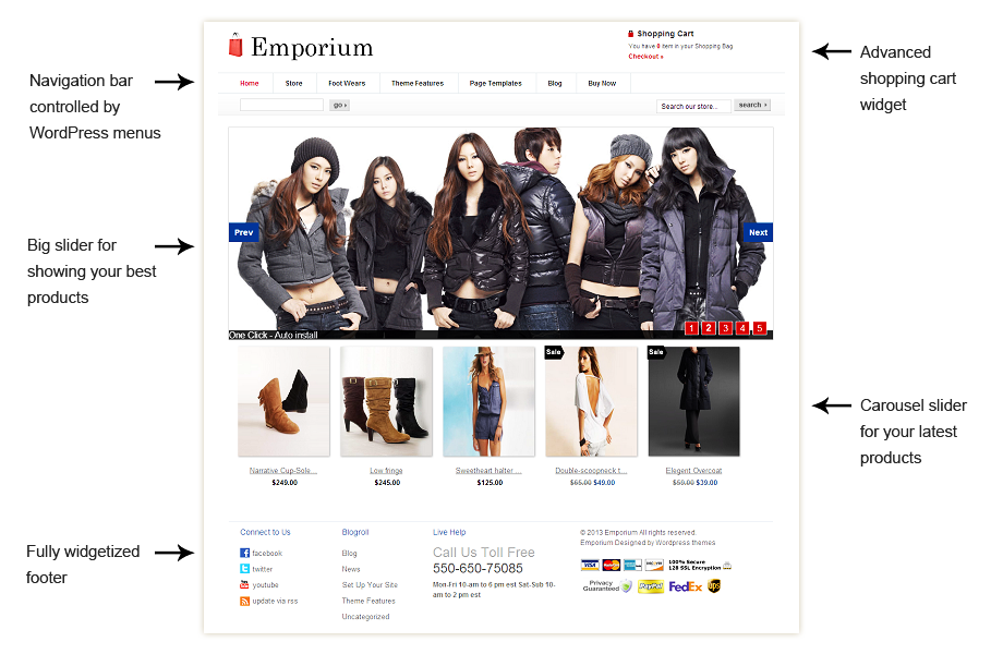 Emporium WordPress ecommerce themes