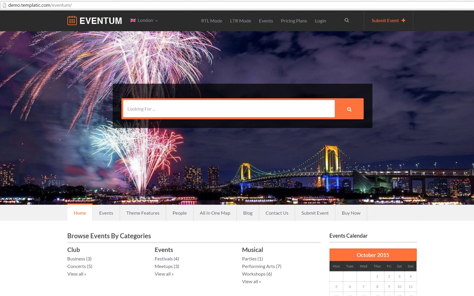 step by step walk through to start a directory site eventum demo screen