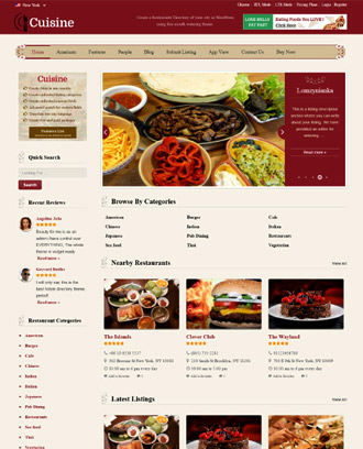 cuisine WordPress Theme