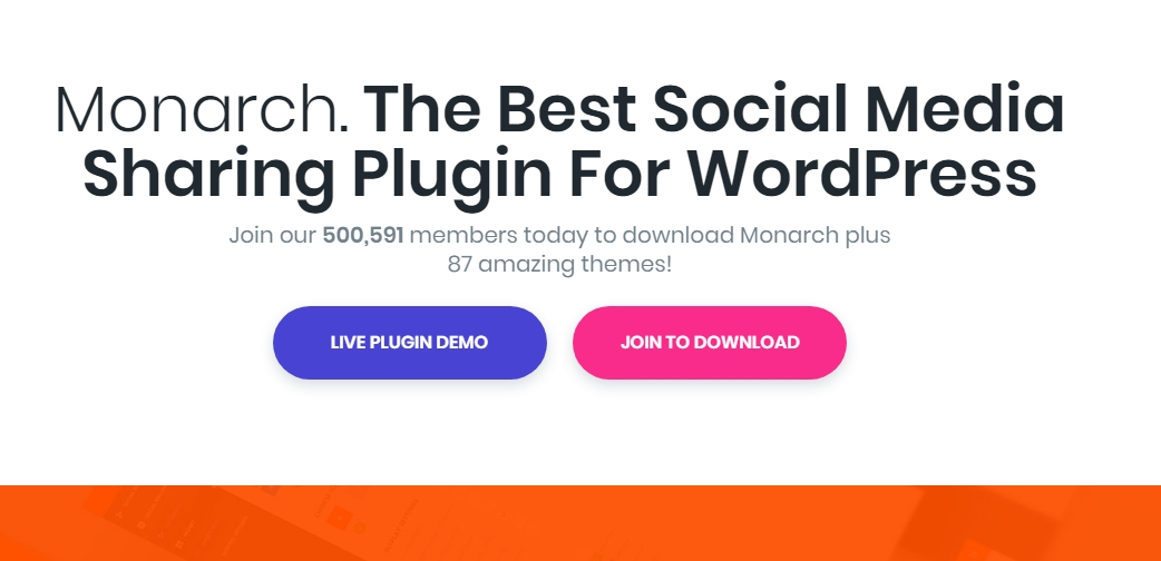 Monarch social sharing plugin by Elegant themes